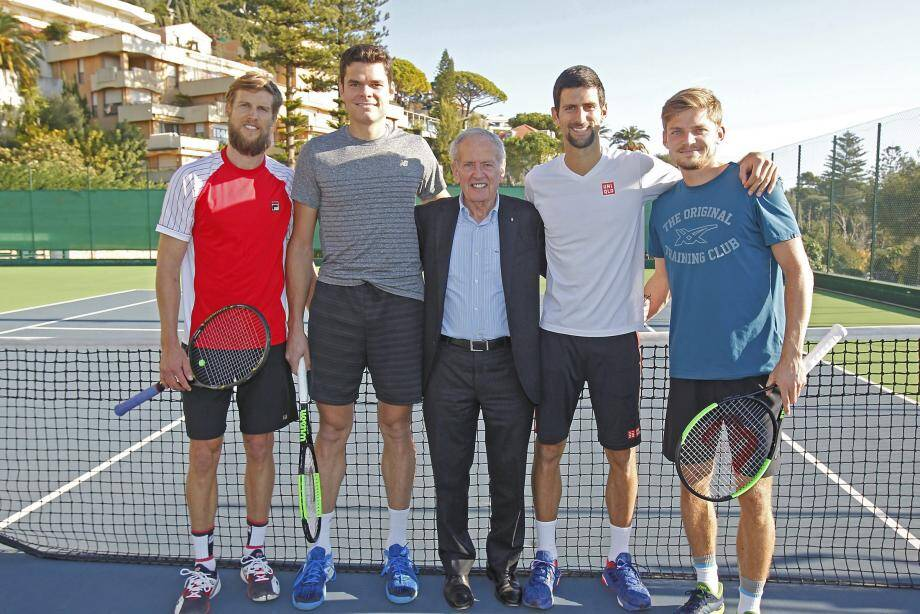 Djokovic, Raonic, Goffin et Seppi au Monte-Carlo Country Club.