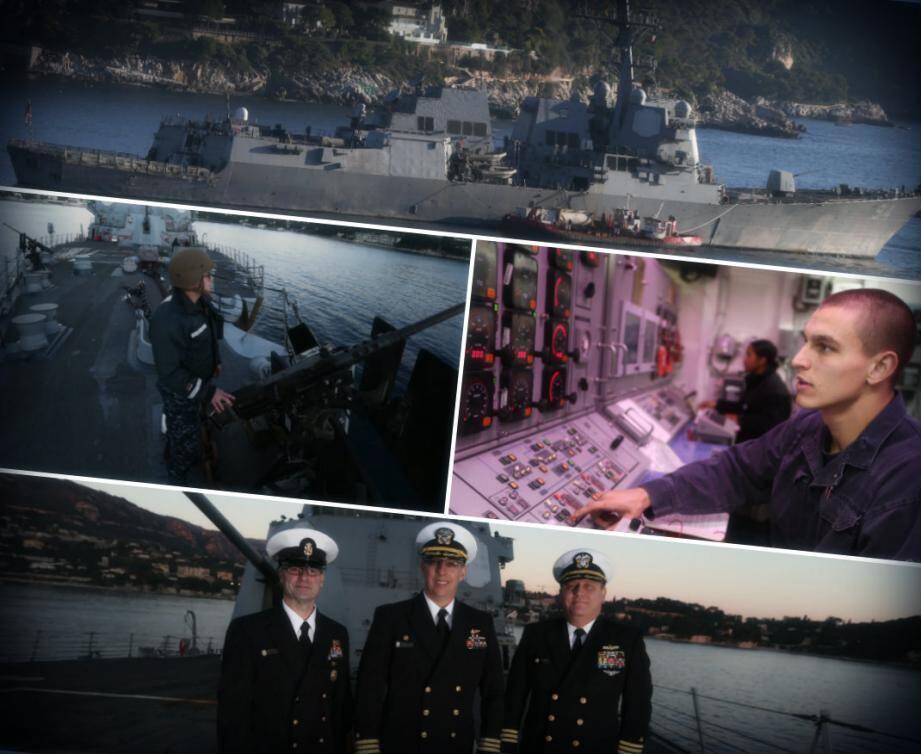 En escale depuis deux jours dans la rade de Villefranche, on a pu visiter le navire de guerre américain USS Nitze