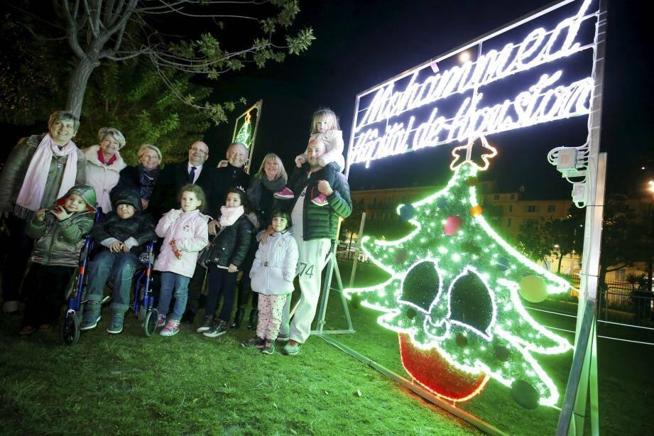 Les Illuminations des decors de Noël créées par les enfants de Lenval seront exposés sur promenade du Paillon