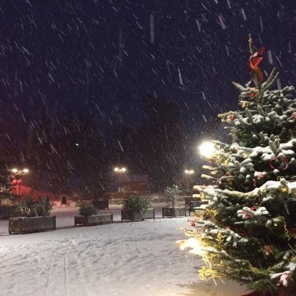 Il a neigé dès hier soir à Valberg.