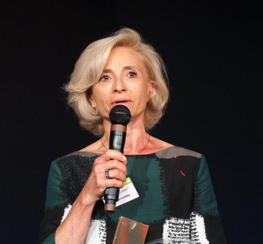 Martine Claret, dirigeante du laboratoire Horus Pharma, a été récompensée par le Trophée Performance RSE.