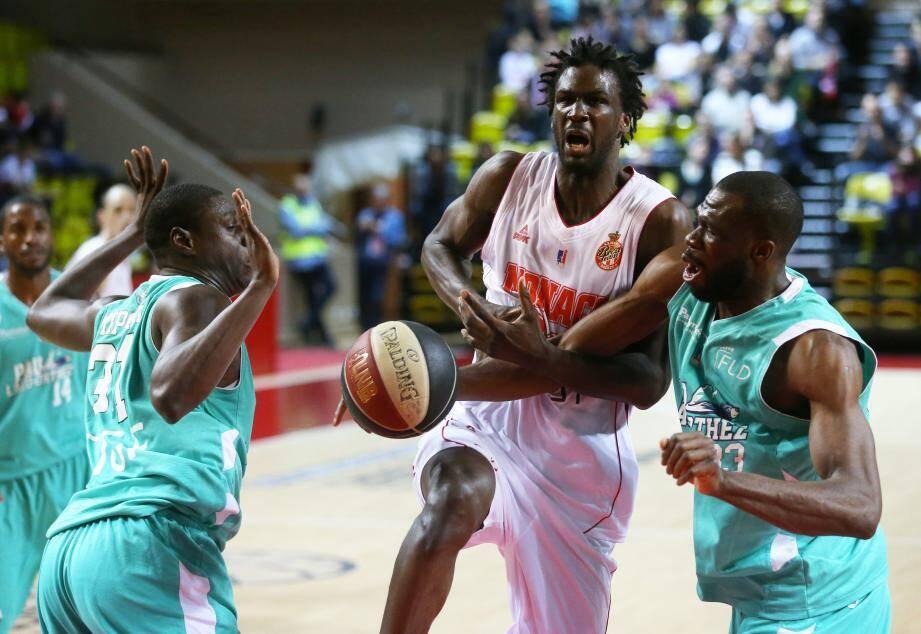 Basket-ball, Monaco VS Pau-Lacq-Orthez, salle Gaston Medecin, Monaco, le vendredi 23 decembre 2016.