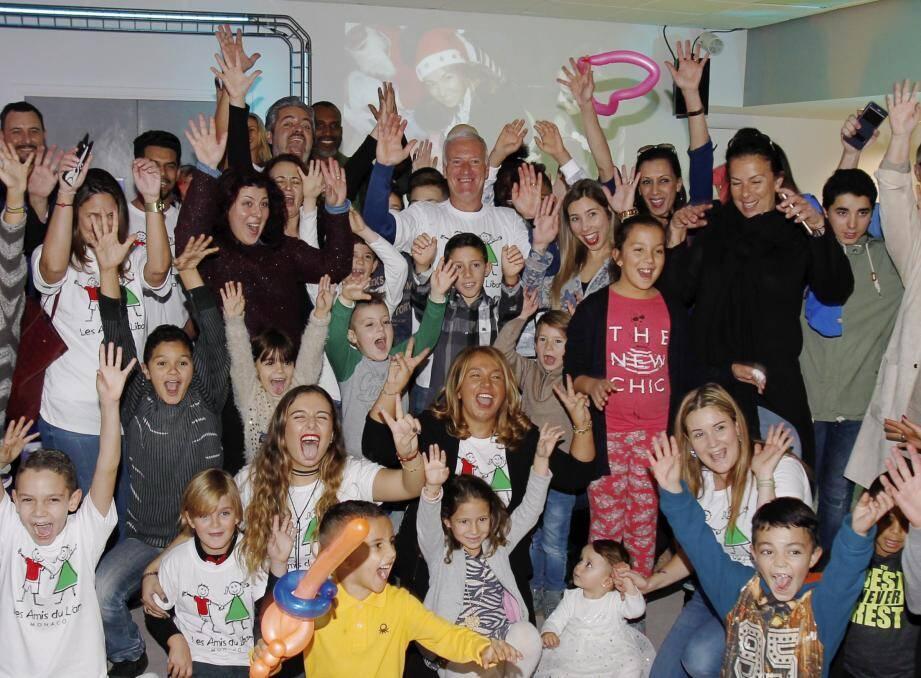 Didier Deschamps avec l'association les amis du Liban pour un Noel pour tous