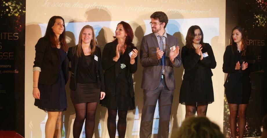 Lors de la première soirée des Pépites du Pays de Grasse, en 2014.