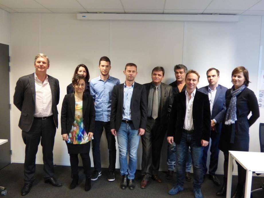 Les sept startups accompagnées par le Pôle SCS.