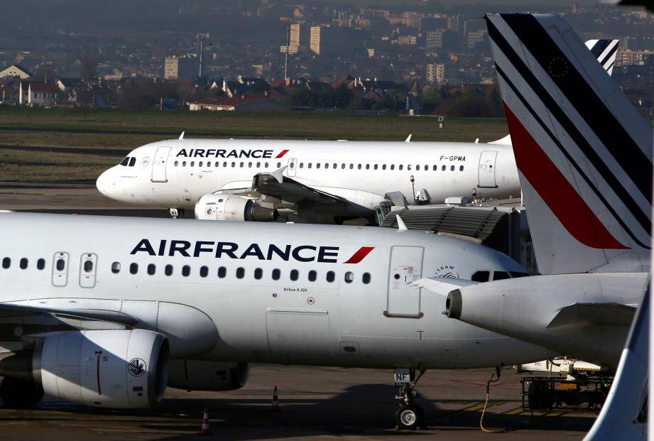 Illustration d'avions de la compagnie Air France.