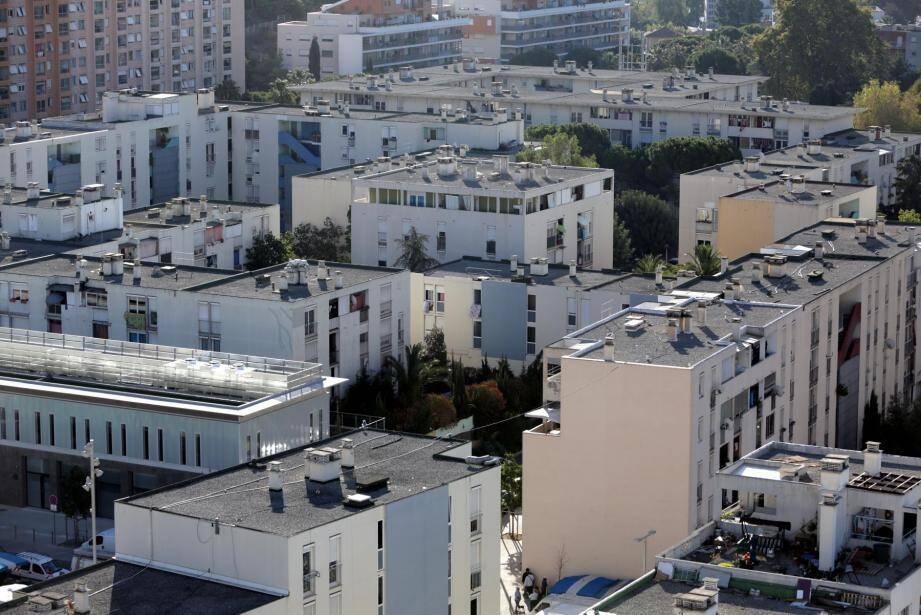 Le quartier des Moulins, à l'ouest de Nice.