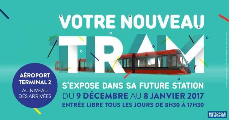 La maquette du futur tram' de Nice a déménagé.