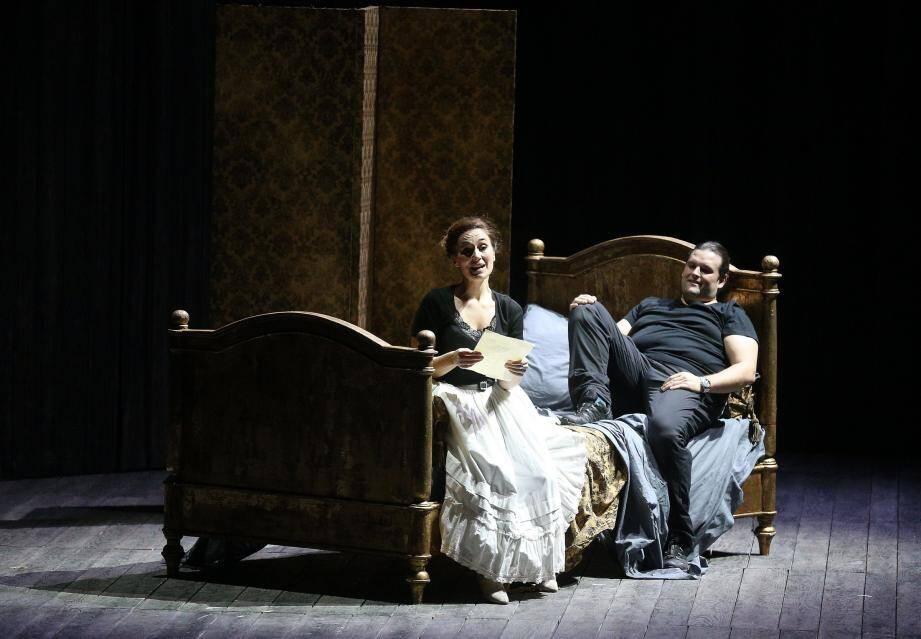 Anne-Catherine Gillet et Jean-François Borras, les amoureux du spectacle.