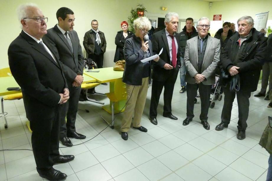 Les officiels présents, avec de gauche à droite, Jean-Pierre Giran, Sabry Hani, Carole Verdet, Christophe Géraud, Jacques Couture et Elie Di Russo.
