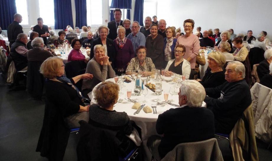 Plus de cent cinquante personnes étaient présentes pour le repas de début d'année organisé par le Club du bel âge.