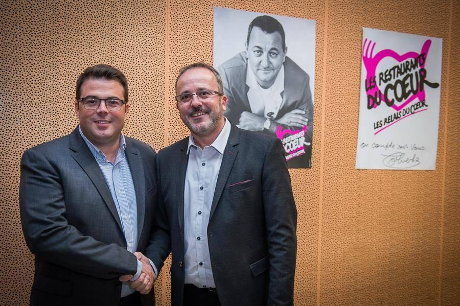 Le Hyérois Julien Savelli (président de la FNAIM du Var) et Philippe Garcia.