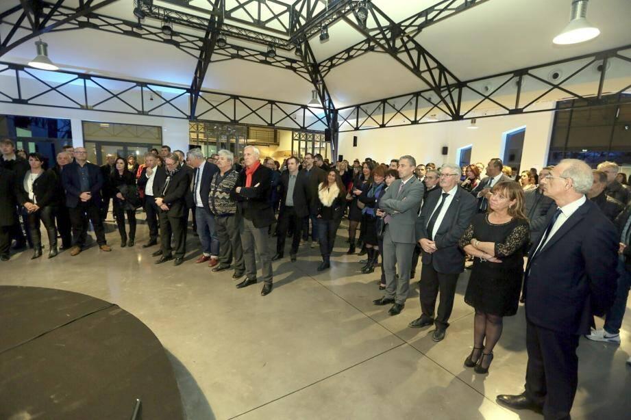 Plusieurs dizaines d'invités se sont retrouvés dans la salle de réception du Château Saint-Julien, à La Celle.