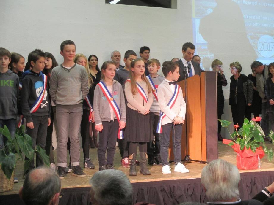 Fabien Matras et l'ensemble des élus de la commune.