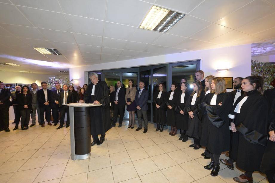 La bâtonnier de l'ordre des avocats de Grasse, Jean-Marc Farneti, a présenté ses vœux à l'ensemble des membres du barreau vendredi soir.