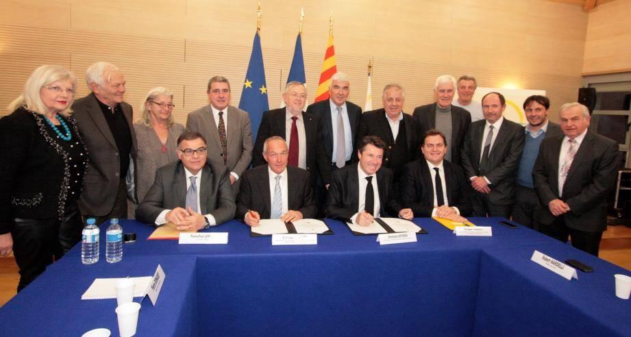 La signature du contrat régional d'équilibre territorial va permettre à la communauté de communes du pays des Paillons d'engager 6 projets structurants dans les 3 ans à venir.