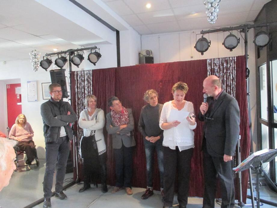 De gauche à droite : Jean-Christophe Rousseau, Karine Montero, Évelyne Cardinal, Sylvie Bloquel, Chrystelle Ricca et Pascal Bourlier.