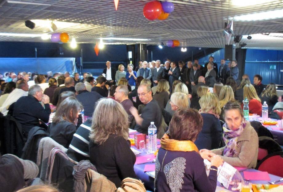 330 agents assistaient aux vœux formulés par le DG, Christophe Ulivieri et par le maire, Richard Galy.