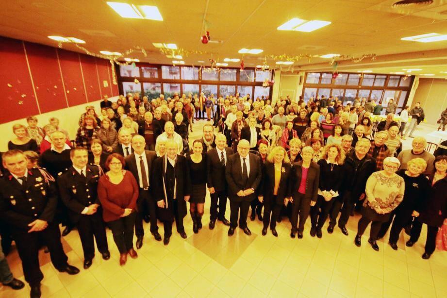 La cérémonie des vœux du maire s'est tenue dans la salle Gilbert-Gaglio.