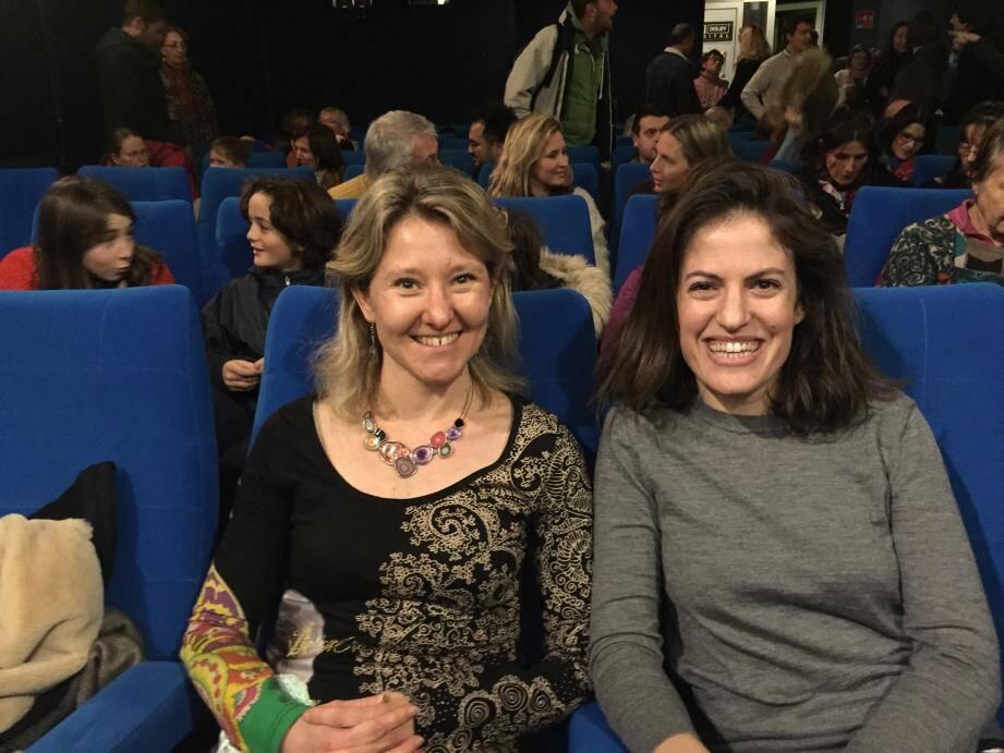 Isabelle Boudier, directrice de l'école Zola et Judith Grumbach, la réalisatrice d'Une idée folle.