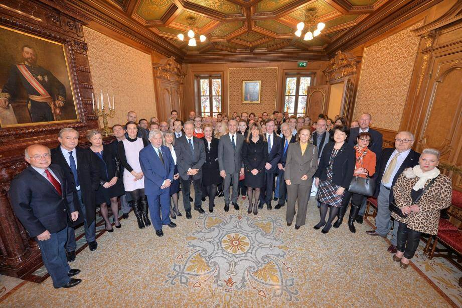Georges Marsan a officialisé l'intégration de ces 50 nouveaux Monégasques.
