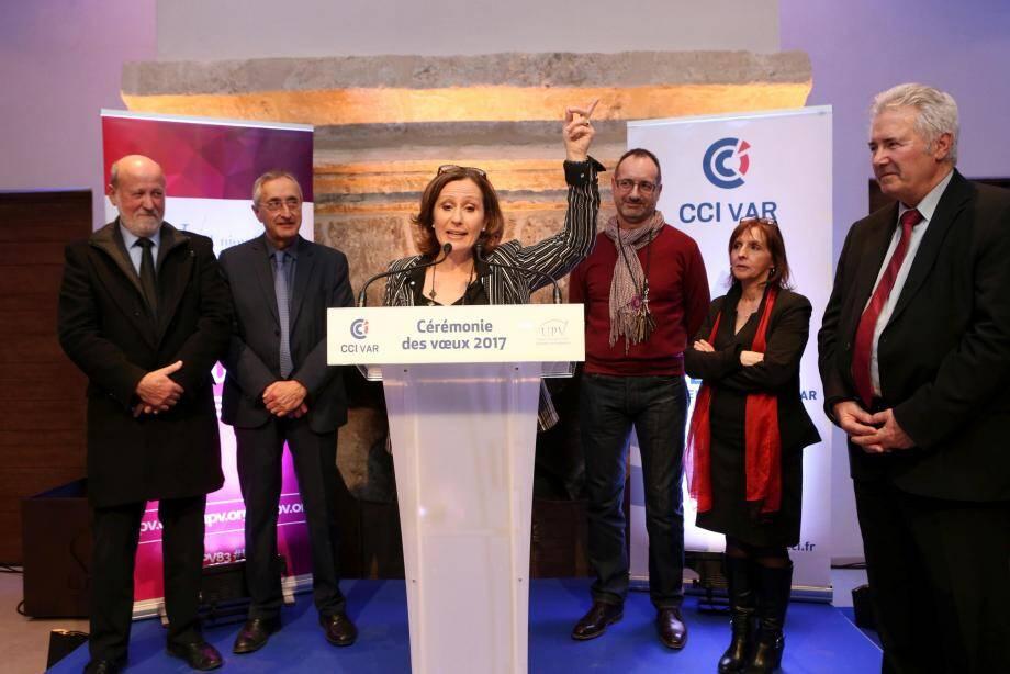 Après six années de présidence, Véronique Maurel a tiré sa révérence devant un parterre de chefs d'entreprise, d'élus, d'autorités civiles et militaires.