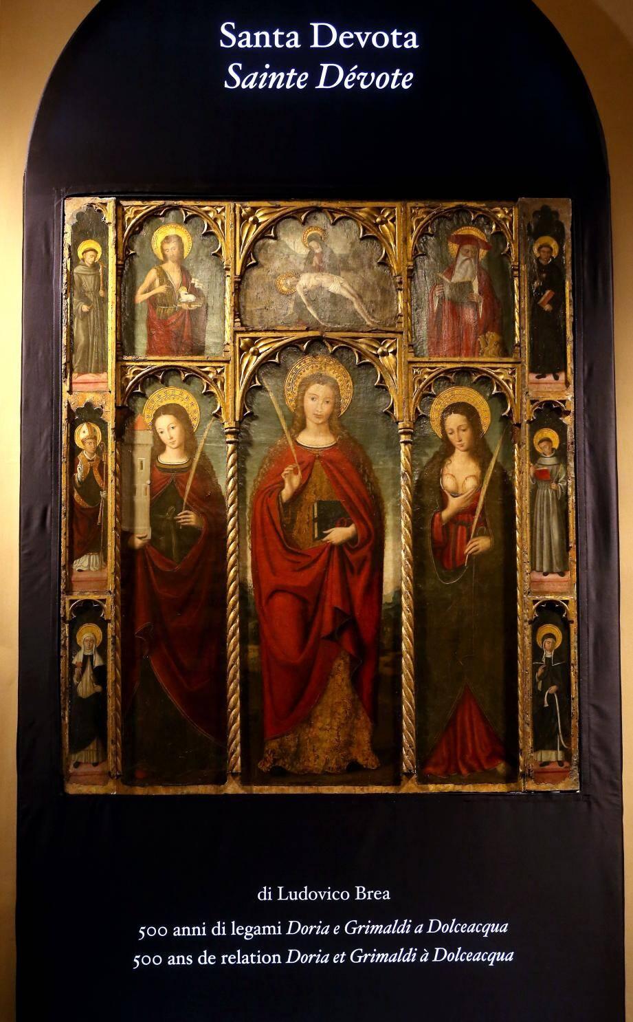 L'œuvre est présentée dans l'église Sainte-Dévote.