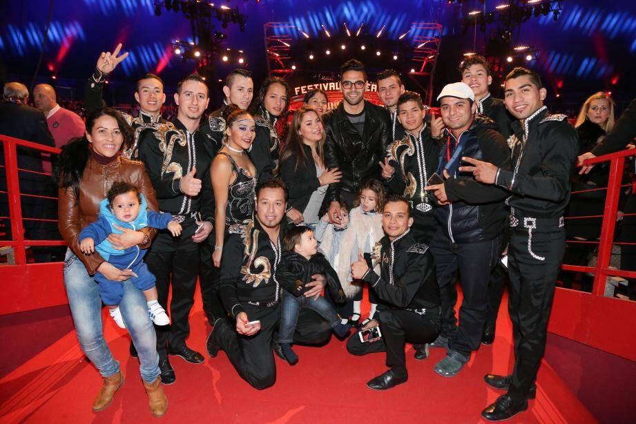 Falcao pose en famille avec ses compatriotes de la troupe Gerlings.