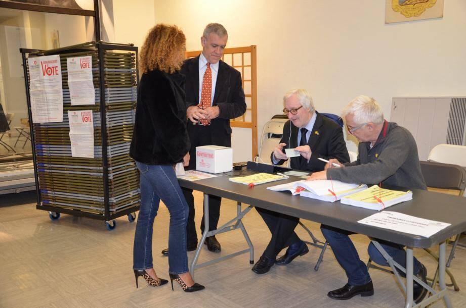 Le bureau de vote à Beausoleil en fin de soirée, avait enregistré une augmentation d'électeurs significative par rapport au premier tour.