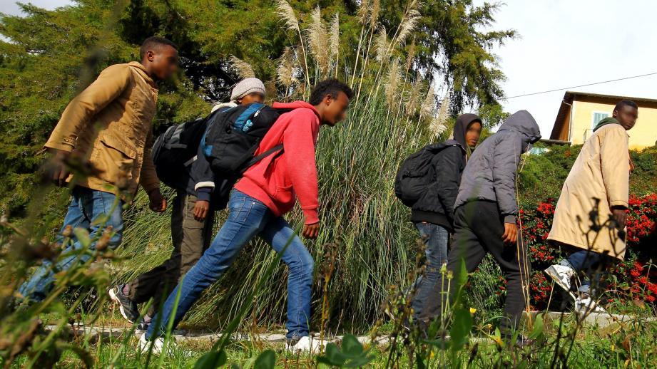 Des migrants dans la vallée de la Roya (image d'illustration).