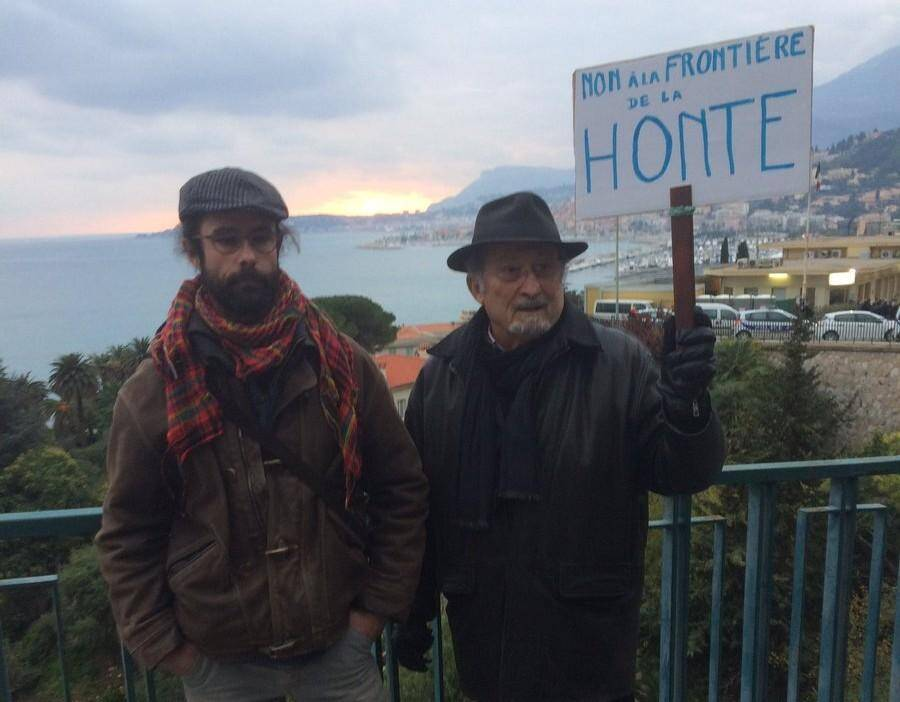 Cedric Herrou à la frontière franco-italienne.