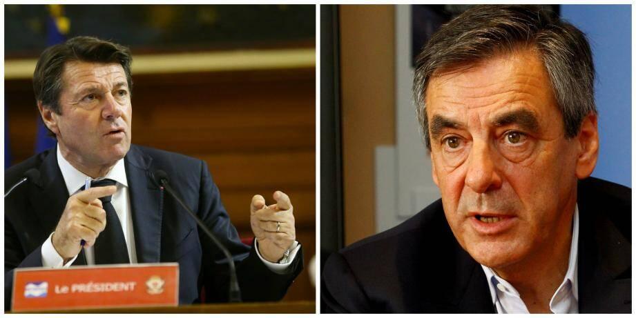 Christian Estrosi et François Fillon