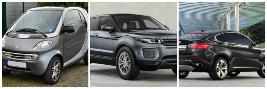 Range Rover Evoque, Smart Fortwo et BMW X6: le trio préféré des voleurs de voitures.