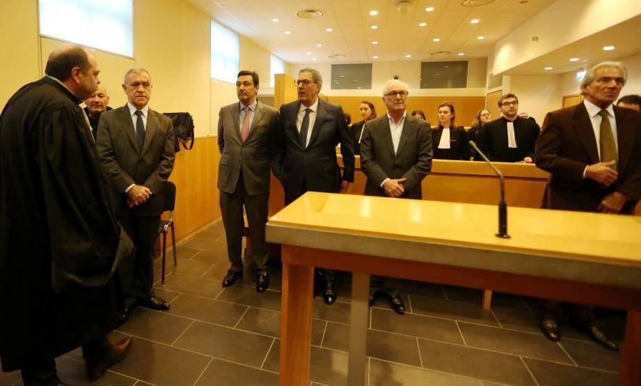 De gauche à droite: Gérard Spinelli, Claudio et Paolo Marzocco,   Giuseppe Malaguardera et Lino Alberti.