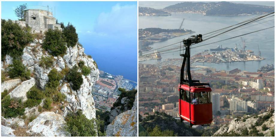 Si téléphérique il devait y avoir un jour entre La Turbie à Monaco, en complément d'un parking de dissuasion, Jean-Jacques Raffaele refuse qu'il parte de la Tête de Chien. Un projet similaire a vu le jour au mont Faron, à Toulon (photo de droite).