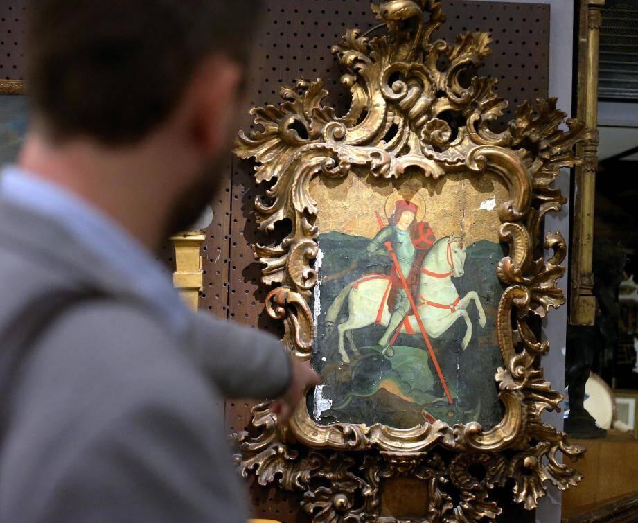 Ce tableau a priori d'origine catalane est daté de la fin XVe, début XVIe siècle. Les enchères débuteront à 4000 euros.