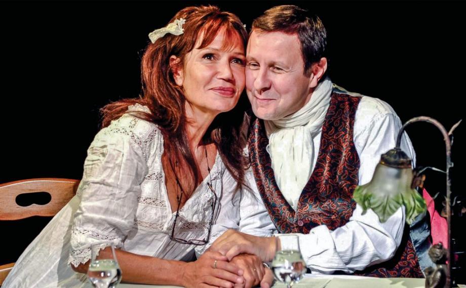 Clémentine Célarié et Thierry Monfray en 2011.