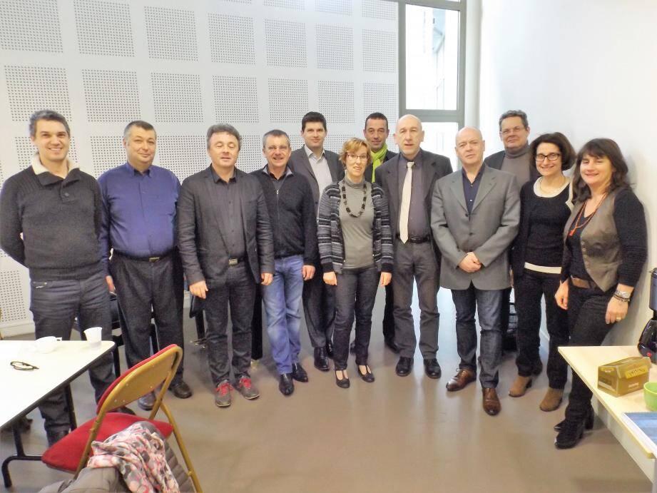 Les directeurs réunis à Saint Maximin pour des raisons géographiques et de qualité d'accueil du conservatoire.