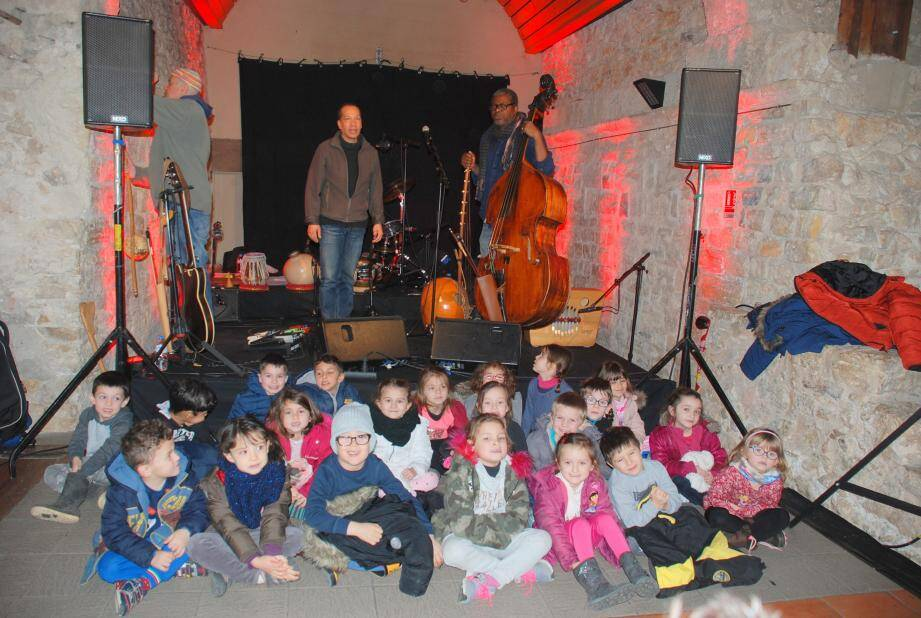 Les enfants de la maternelle de Pourcieux ont beaucoup apprécié.