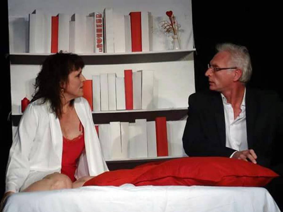 Myriam Grelard et François Cracosky une nouvelle fois sur la scène du Folie's pour une pièce à grand succès bien adaptée à la Saint-Valentin, «Le Bonheur».(DR)