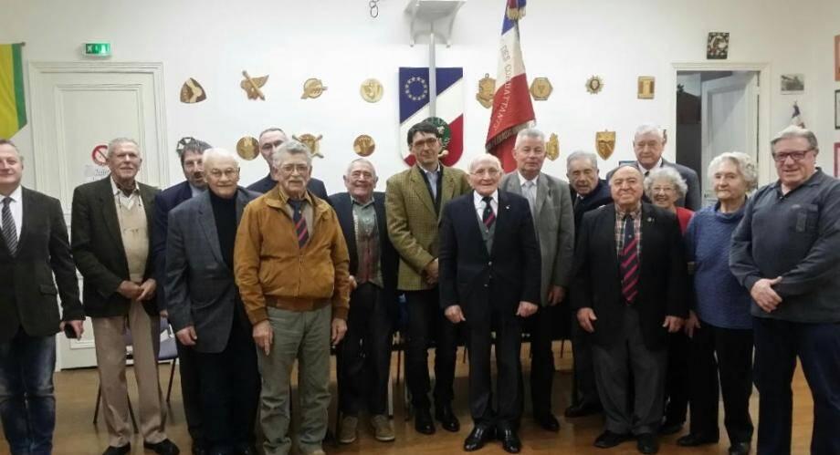 Le président Basilio (au centre), entouré du député Audibert-Troin et d'Alain Vigreux, a présenté les projets de son association pour 2017.