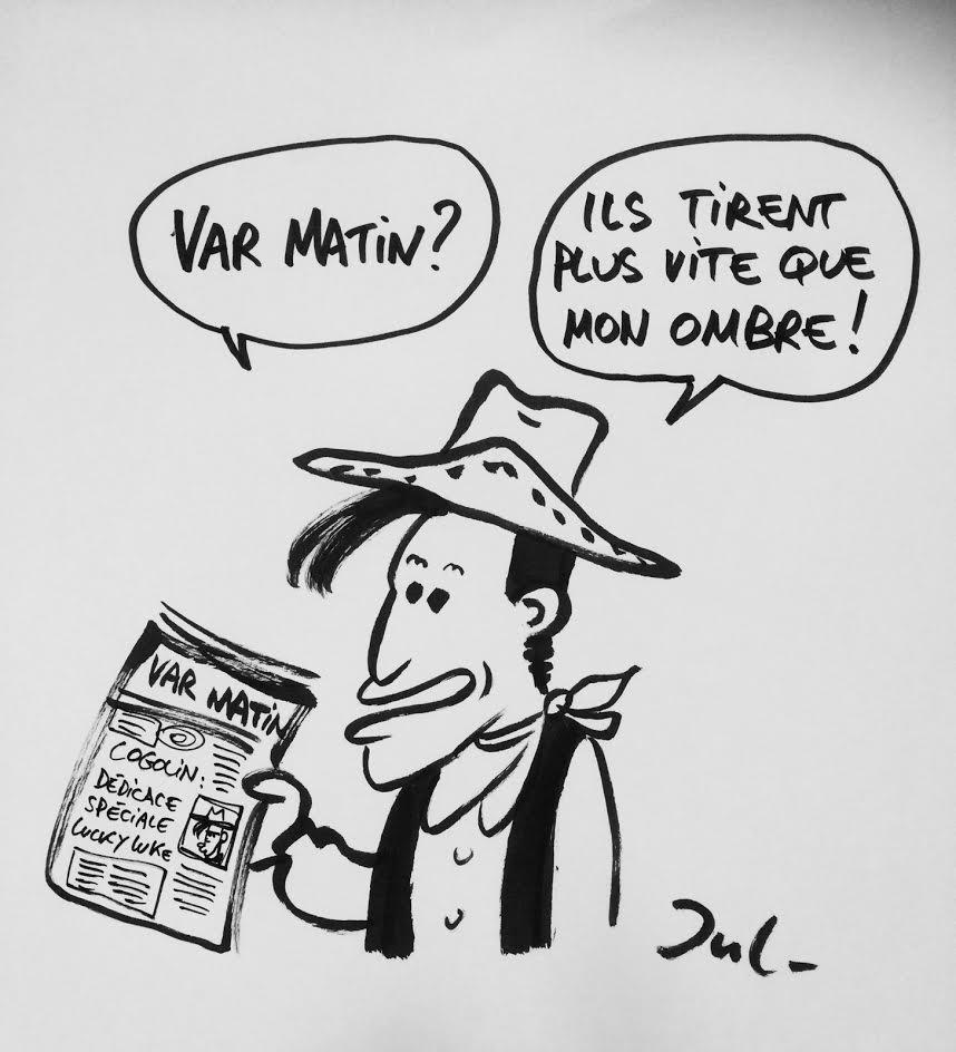 Spéciale dédicace en avant-première aux lecteurs de Var-matin : Lucky Luke attend ses lecteurs vendredi à la Librairie de Cogolin.