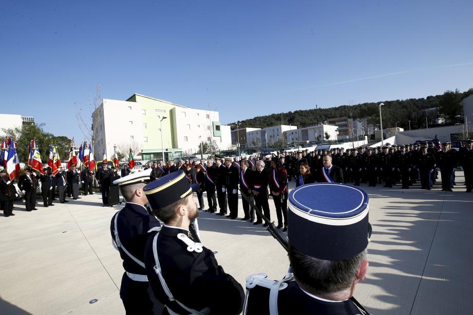 La cérémonie s'est tenue hier au siège de la gendarmerie départementale  à La Valette.
