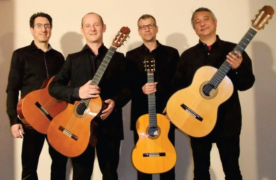 Le quatuor de guitares est à ne pas manquer aujourd'hui à 17h en salle multimédia.
