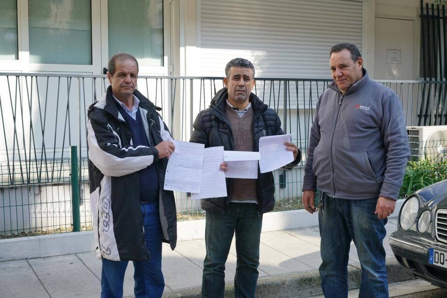 Le président du comité de concertation, Aroudj Sliman (à droite) et son équipe ont lancé avant-hier une pétition.(DR)