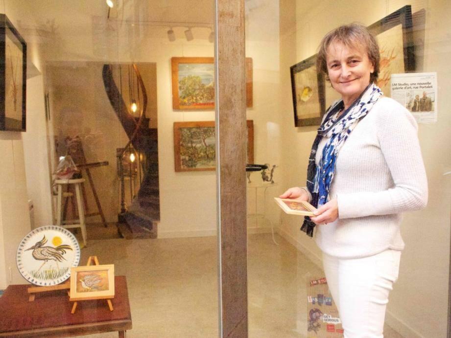 Laurence Néron-Bancel accueille les œuvres de Bruno Pasquier-Desvignes, au 5 bis de la rue du Portalet.