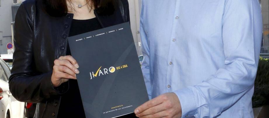 Charlène Ureta et Bogdan Dinu ont fondé jivaro.io, une plate-forme d'offres d'emplois, et ont l'intention d'installer leur activité à Cannes.