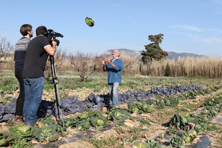 Avec l'agriculteur Daniel Vuillon, ici en tournage pour Météo à la carte, les vertus du chou connues depuis des millénaires ne sont pas prêtes de s'envoler.