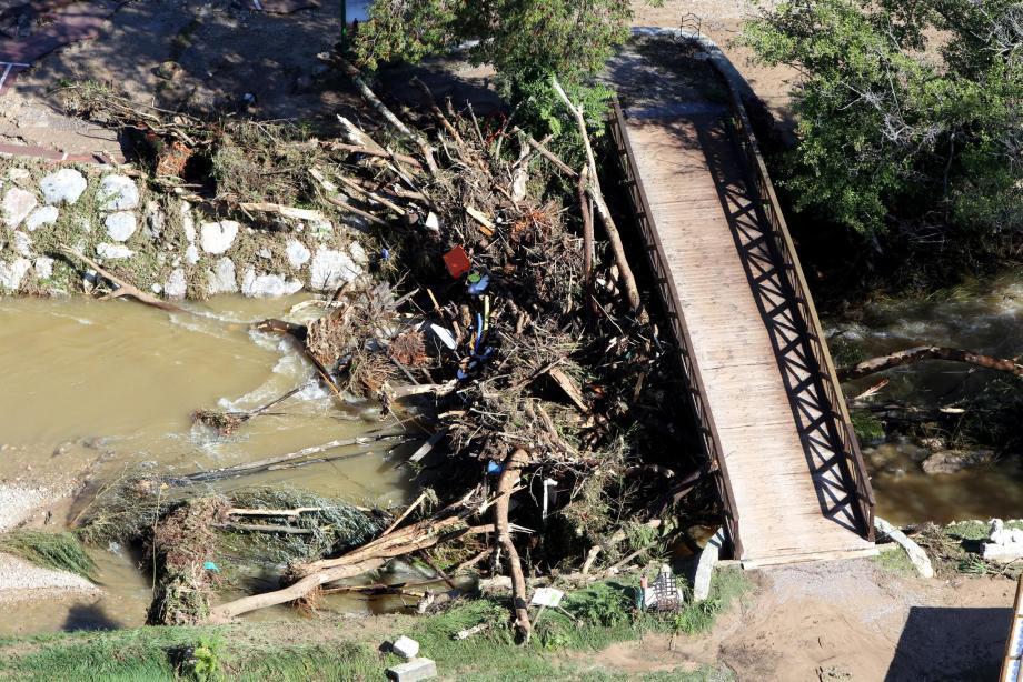 Les inondations avaient submergé le secteur du camping du Pylone