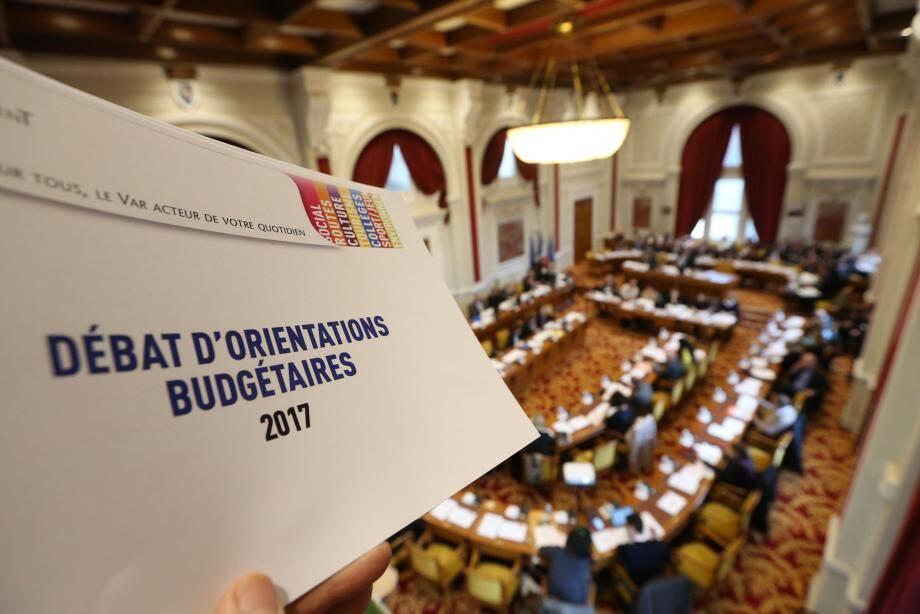 Les élus ont retrouvé la salle Edouard-Soldani à l'Hôtel du Département de Draguignan pour une séance consacrée en partie aux orientations budgétaires.